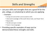 Sample Skills and Strengths In Resume Building A Resume Resume Sections 10th Grade Advisory