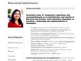 Sample Teacher Resume Indian Schools Nandini Teacher Resume