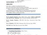 Sample Teacher Resume Indian Schools Resume format for Teachers In India Best Letter Sample