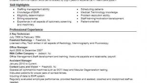 Sample X Ray Resume X Ray Technician Resume Sample Technician Resumes