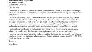 Samples Of Cover Letters for Teachers Sample Teacher Cover Letter format Samplebusinessresume
