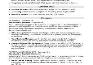 Samples Of Resumes for Administrative assistant Positions Midlevel Administrative assistant Resume Sample Monster Com
