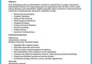 Samples Of Resumes for Administrative assistant Positions Sample to Make Administrative assistant Resume