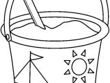 Sand Bucket Template Printable Pail and Shovel Coloring Coloring Pages