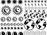 Sandblasting Templates Earth Sun Moon Blasting Stencils as Earth Sun Moon 01