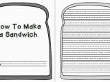 Sandwich Template for Writing Sailing Through 1st Grade Quot How to Quot Instructional Writing