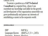 Sap Abap Fresher Resume Sample 42 Professional Fresher Resumes Sample Templates