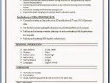 Sap Abap Fresher Resume Sample Sap Sd Resume format