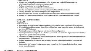 Sap Basis Administrator Resume Sample Sap Basis Administrator Resume Samples Velvet Jobs
