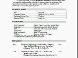 Sap Bi Resume Sample for Fresher Resume Templates