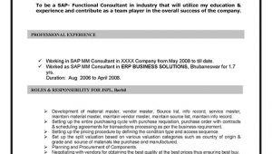 Sap Mm Sample Resumes Sap Mm Materials Management Sample Resume 10 00 Years