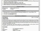Sap Pm Fresher Resume format Resume format 4 Years Experience Resume Templates