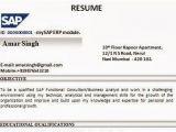 Sap Pm Fresher Resume format Sap Sd Resume format