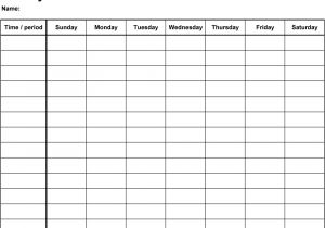 Saturday to Friday Calendar Template Printable Monday Through Friday Template Bing