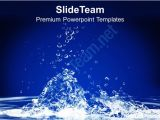 Save Powerpoint Template as theme 0313 Save Water Save Life Conservation Powerpoint