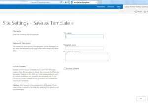 Save Site Template Sharepoint 2013 Ukreddy Sharepoint Journey issue Save Site as Template
