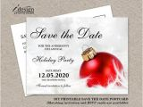Save the Date Email Template Christmas Party Items Similar to Christmas Party Invitation Save the Date