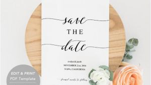 Save the Date Email Template Free Uk Printable Save the Date Template Save the Date Invitation