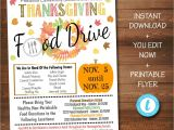 School Annual Day Card Invitation Fall Food Drive Flyer Printable Pta Pto Flyer School Church Thanksgiving Fundraiser Poster Invite Business Charity Invitation