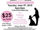 School Dance Flyer Template Daddy Daughter Dance Flyer St John Paul Ii Regional School