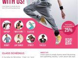 School Dance Flyer Template Dance Studio Flyer Advertising Design and Dance