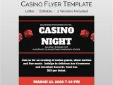 School Fundraiser Flyer Templates Casino Night Flyer and School Fundraiser Flyer Template