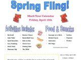 School Fundraiser Flyer Templates School Spring Fling Flyer Template Google Search Pto