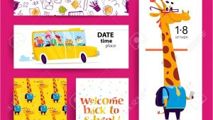School Id Card Background Design Collection Of Flat Back to School Card Designs with