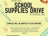 School Supply Drive Flyer Template Free 15 Best Educational Poster Templates Images On Pinterest