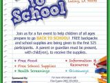 School Supply Drive Flyer Template Free Back to School event Provides Backpacks and Supplies to