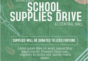 School Supply Drive Flyer Template Free Copy Of School Supplies Drive Charity event Poster