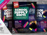 School Supply Drive Flyer Template Free School Supply Drive Flyer Templates Flyer Templates