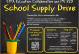 School Supply Drive Flyer Template Free School Supply Drive