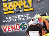 School Supply Drive Flyer Template Free School Supply Drive Template Invitation Templates