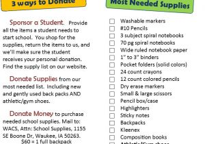 School Supply Drive Flyer Template Free Waukee area Christian Services