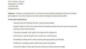 School Teacher Job Application Resume Teacher Resume Examples 26 Free Word Pdf Documents