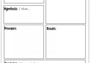 Science Observation Template A Simple Introduction to the Scientific Method with A
