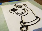Scooby Doo Cake Template Food for thought buttercream Frosting Transfer Tutorial