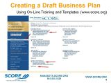 Score.org Business Plan Template Building Your Business Plan Ppt Download