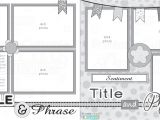 Scrapbook Layout Templates 12×12 12×12 Two Page Free Printable Scrapbook Layout