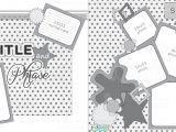 Scrapbook Layout Templates 12×12 2 Page 12×12 Free Printable Scrapbook Sketch Printable
