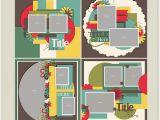 Scrapbook Layout Templates 12×12 Includes Four 12×12 Digital Scrapbook Templates In Psd