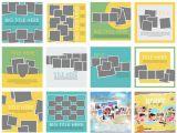 Scrapbook Layout Templates 12×12 Scrapsimple Digital Layout Album Templates Multi Photos