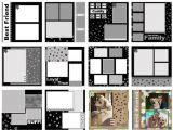 Scrapbook Layout Templates 12×12 Scrapsimple Digital Layout Album Templates Puppy Love