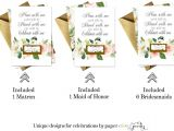 Scratch Card Wedding Favours Poem Graceful Floral Be My Bridesmaid Scratch Off Cards and Gold Envelopes 8 Pack Bridesmaid Maid Of Honor and Matron