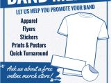 Screen Printing Flyer Templates Band Merch Marketing Flyers for Screen Printers