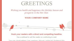 Seasons Greetings Email Template Free 7 Holiday Email Templates for Small Businesses Nonprofits