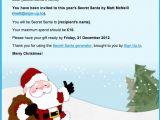 Secret Santa Email Template for Office Secret Santa Generator Just for Fun Sign Up to