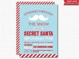 Secret Santa Email Template for Office Secret Santa Invitation Gift Exchange Party Printable Holiday