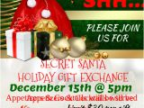 Secret Santa Flyer Templates Holiday Gift Exchange Template Postermywall